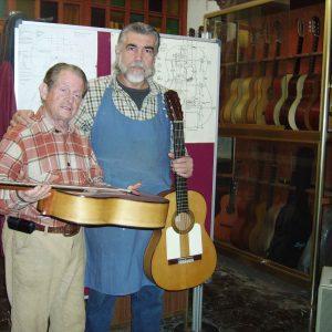 guitarras en el taller