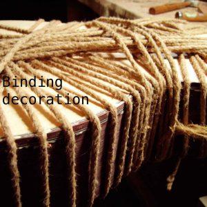 Binding decoration
