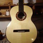 guitarra proceso barnizado