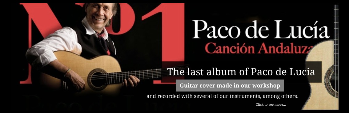 Paco de Lucia, his last work with one of our guitars