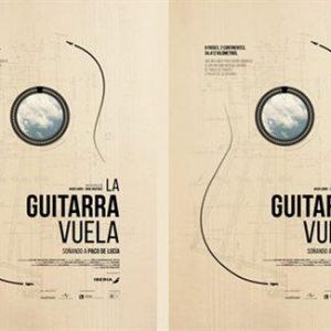poster doble la guitarra vuela