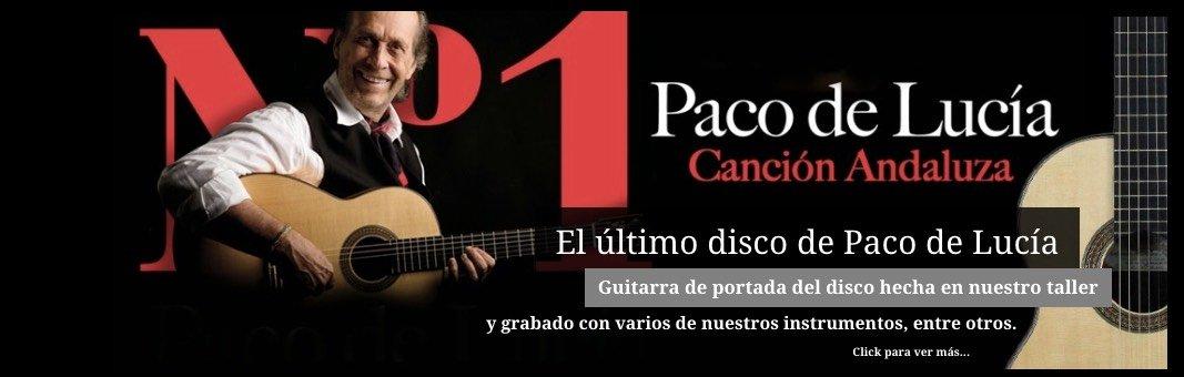 Paco de Lucía, su último disco con una de nuestras guitarras