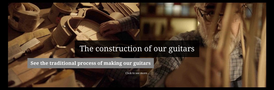 Artisanal process of making our guitars