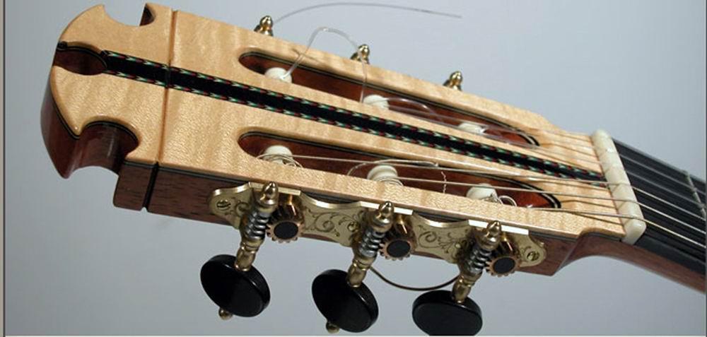 cuerdas guitarra clavijero