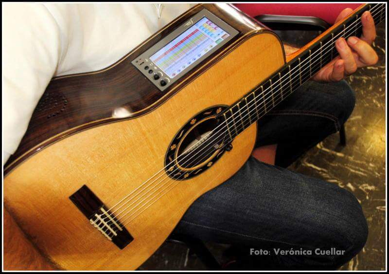 Guitar with F Home Studio system