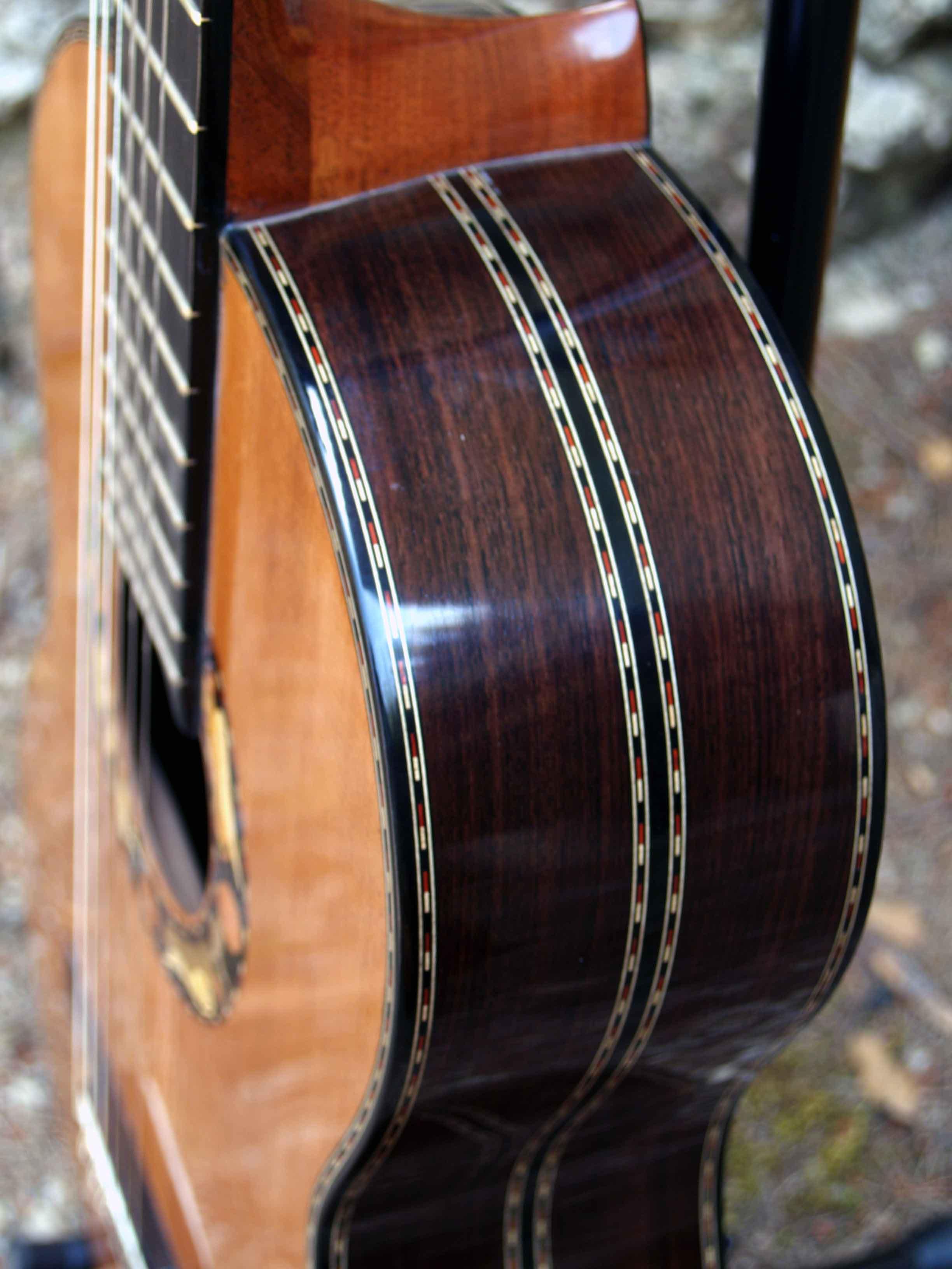 Rosewood and cedar guitar archangels decoration