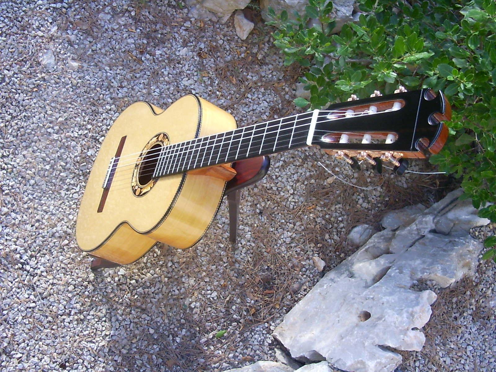 guitarra desde arriba