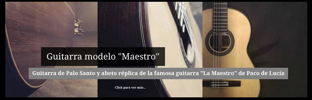 Guitarra de Palo Santo y abeto réplica de