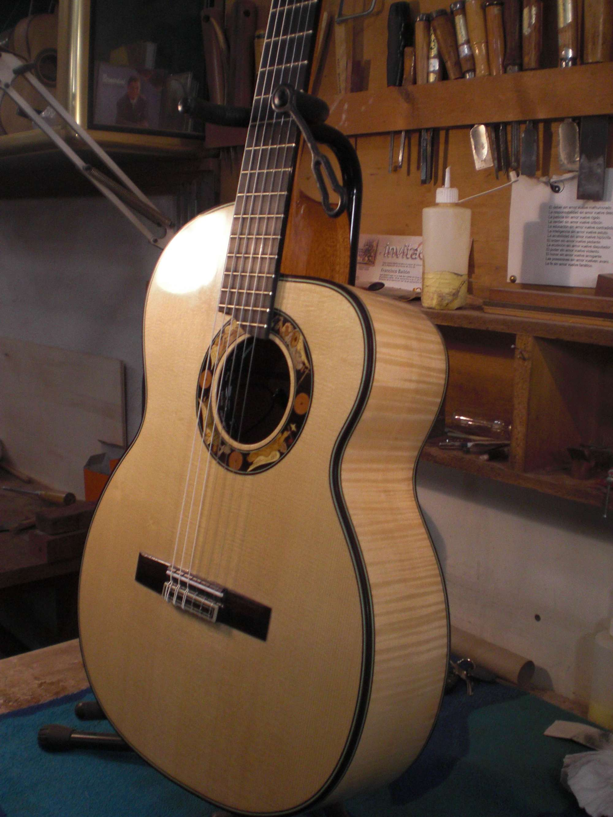 """Amplified guitar with cutaway """"harlequin"""""""